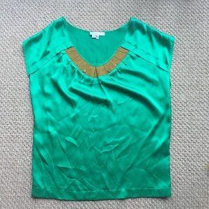 See By Chloe Kelly Green s/l silk blouse Sz 8